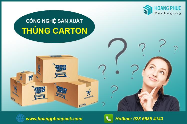 Công nghệ sản xuất thùng carton